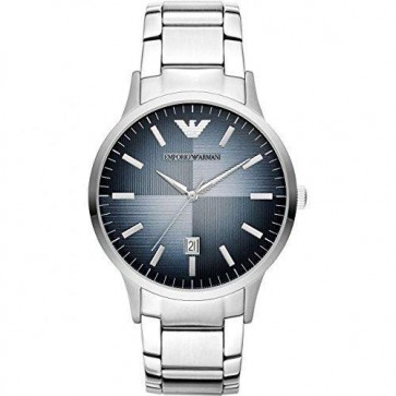 Emporio Armani Mens Stainless Steel Braelet Blue Dial AR2472