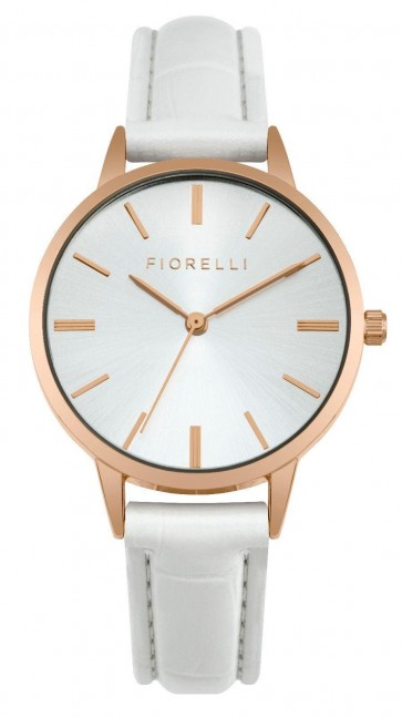 Fiorelli Ladies Womens Wrist Watch White Strap White Dial SFO004WRG