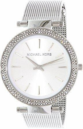 Michael Kors Darci Ladies Watch Silver Mesh Bracelet Siver Dial MK3367
