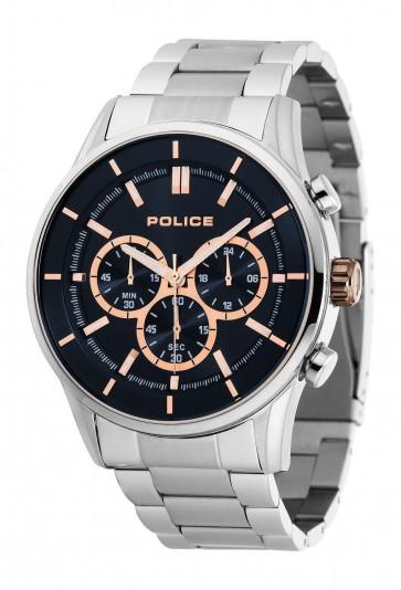 Police Mens Gents Rush Quartz Wrist Watch Black Dial 15001JS/03M