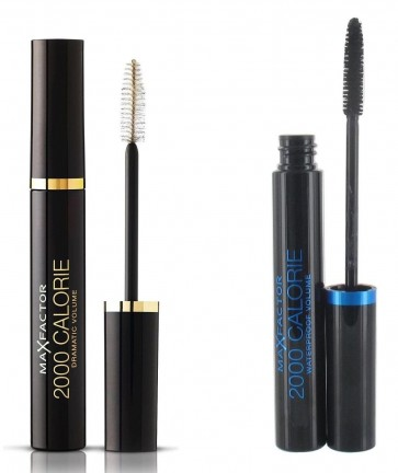 MAX FACTOR 2000 CALORIE MASCARA DRAMATIC VOLUME BLACK/BROWN + BLACK WATERPROOF