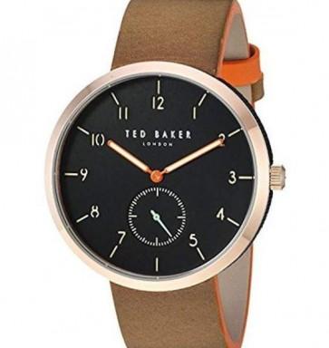 Ted Baker Gold Brown Mens Gents Wrist Watch TE50011006