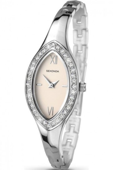 Sekonda Ladies Watch Pink Dial Stainless Steel Case and Bracelet SK2059