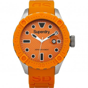 Superdry Mens Gents Scuba Deepsea Orange Wrist Watch SYG140O