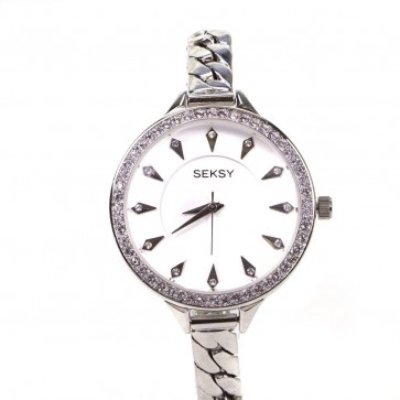Sekonda Ladies Womens Wrist Watch White Face Silver Dial 2070