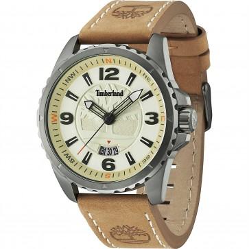 Timberland Mens Gents Wrist Watch Brown Leather Strap TBL14531JSU/07