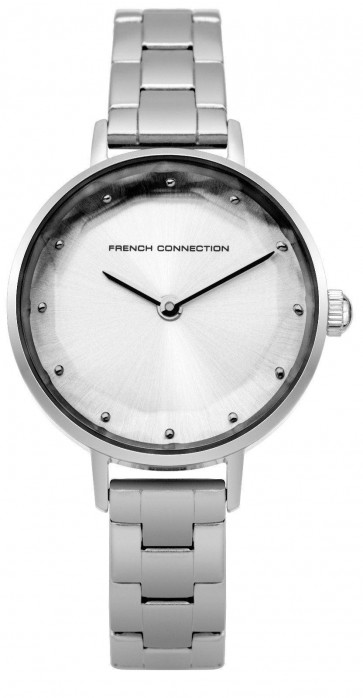 French Connection Womens Ladies Quartz Watch Silver Strap FC1275SM
