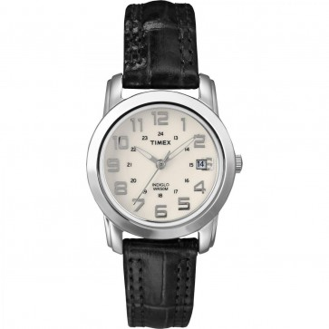 Timex Women's Ladie's Quartz Watch With Cream Dial T2N435