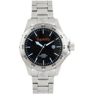 Superdry Adventurer Mens Gents Stainless Steel Watch SYG147BSM