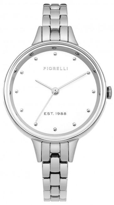 Fiorelli Ladies Womens Watch Silver Strap White Face FO038SM
