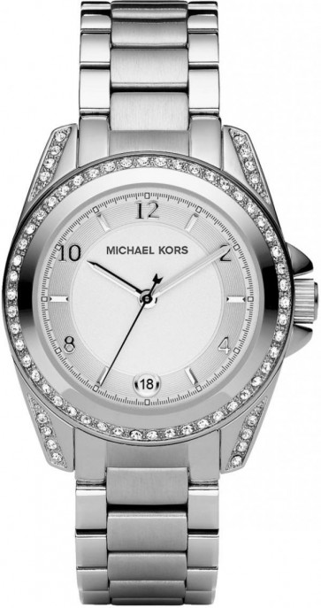 Michael Kors Ladies Watch Stainless Steel Bracelet Silver Dial MK5333