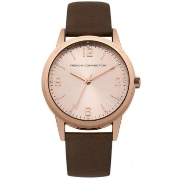 French Connection Womens Ladies Wrist Watch Rose Gold Dial SFC108TRG