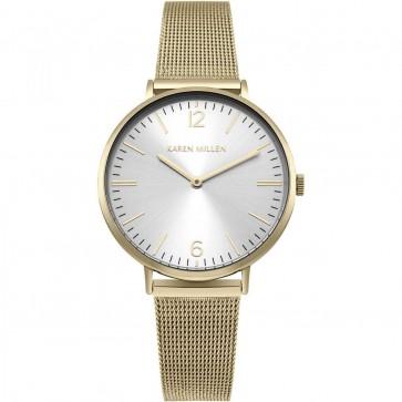 Karen Millen Womens Ladies Wrist Watch White Strap KM163GM