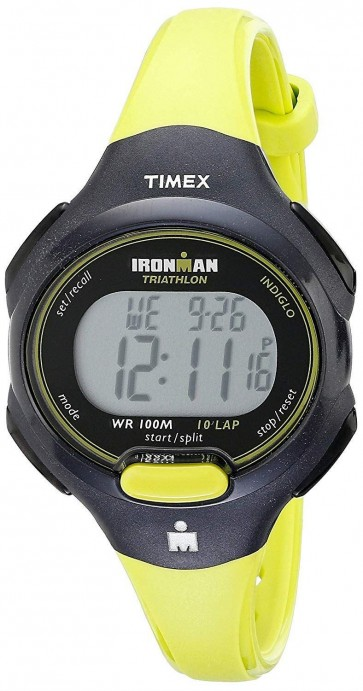 Timex Ironman Unisex Triathlon Wrist Watch Yellow Strap T5K526