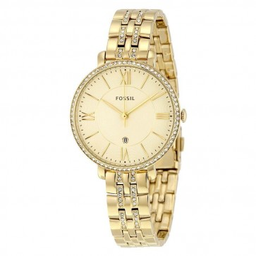 Fossil Ladies Jaqueline Watch  Gold Bracelet Gold Dial ES3547
