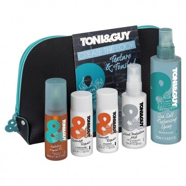 Toni & Guy Create the Look Texture & Tousled Wash Bag Gift Set