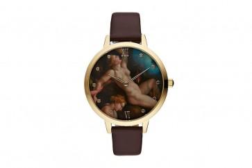 Charlotte Raffelli Ladies Watch Renaissance  Ladies Motif Dial Brown Leather Strap CRR014