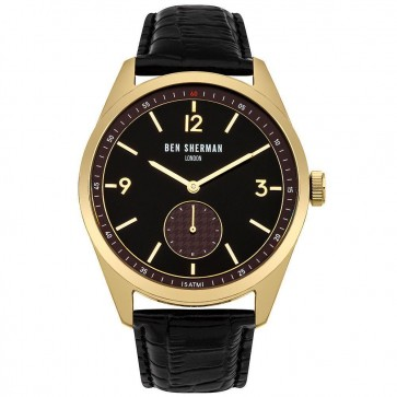 Ben Sherman Mens Gents Wrist Watch Black Strap Face WB052BG