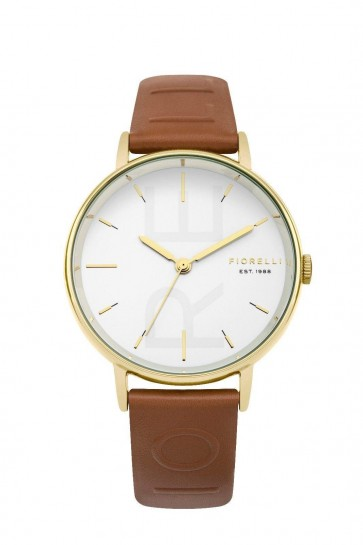 Fiorelli Womens Ladies Wrist Watch Brown Strap White Face  FO036TG