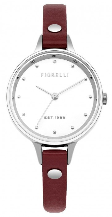 Fiorelli Ladies Womens Watch Red Strap White Face FO042R