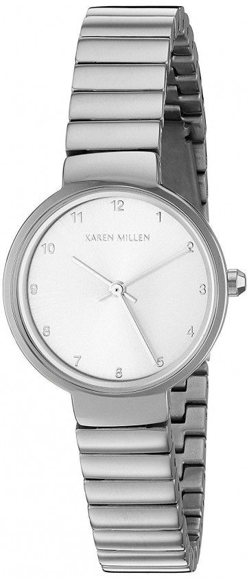 Karen Millen Womens Quartz Wrist Watch Silver Dial  Bracelet KM131SM