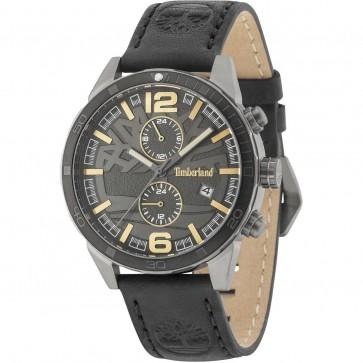 Timberland Mens Gents Sagamore Wrist Watch Black Leather Strap 15256JSUB/61