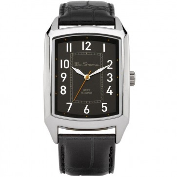 Ben Sherman Mens Watch Black Strap Black Dial BS027