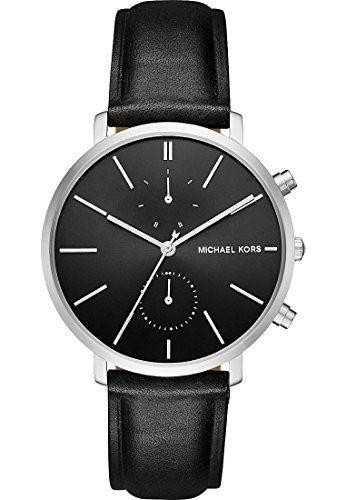 Michael Kors Mens Jaryn Chronograph Watch Black Strap Black Dial MK8539