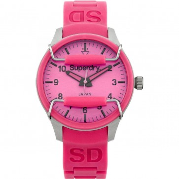 Superdry Ladies Womens Pink Scuba Wrist Watch SYL120P
