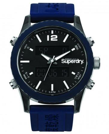 Superdry Gents Mens Tokyo Blue Anaologue Digital Wrist Watch  SYG206U
