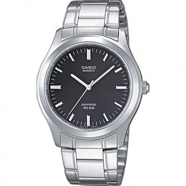 Casio Mens Watch Balck Dial Stainless Steel Bracelet MTP-1200A-1AVEF