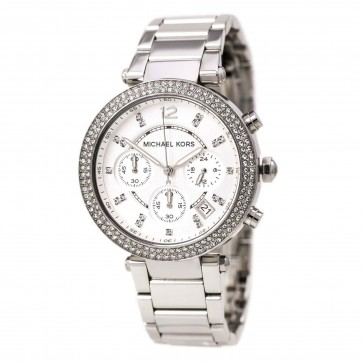 Ladies Michael Kors Stainless Steel Bracelet Stone Set Watch MK5353