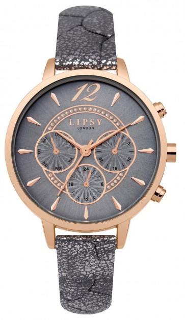 Lipsy Womens Ladies Wrist Watch Grey Face Gold Dial LP507