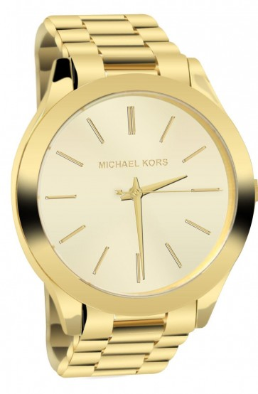 Michael Kors Runway Ladies Watch Gold Bracelet Dial MK3179