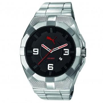 Puma Iconic S Mens Gents Wrist Watch Silver Strap PU103921003