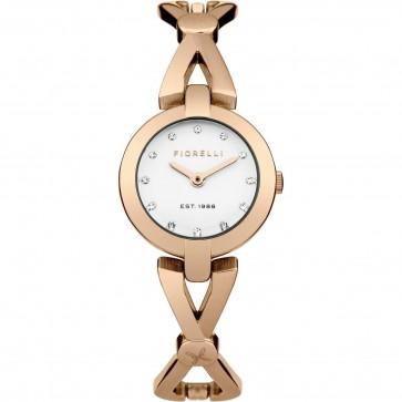 Fiorelli Ladies Watch Rose Gold Bracelet Silver Dial FO003RGM