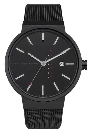 French Connection Gents Mens Wrist Watch Black Strap FC1283BBM