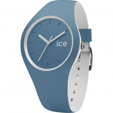 ICE Mens Gents Unisex Duo Blue Stone Watch Blue Strap 001496