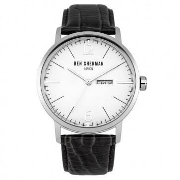 Ben Sherman Mens Big Portobello Wrist Watch Strap Black Dial WB046B