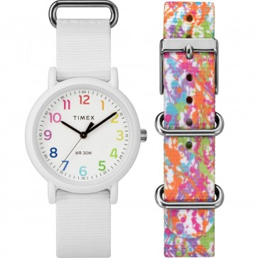 Timex Women's Ladie's Weekendr Quartz Watch With White Diall TW2P82000