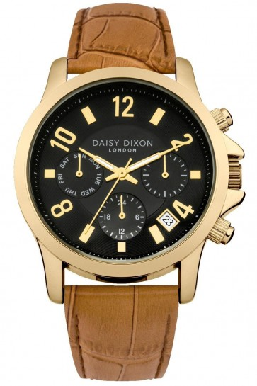 Daisy Dixon Ladies Womens Wrist Watch Gold Dial Silver Face DD002TG