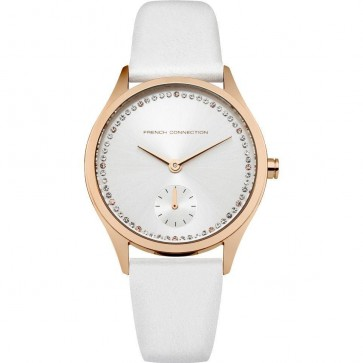 FCUK French Connection Womens Ladies Wrist Watch White Strap FC1272WRG
