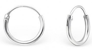 Maxbelle Nickel Free Round 925 Sterling Silver Earring Hoops
