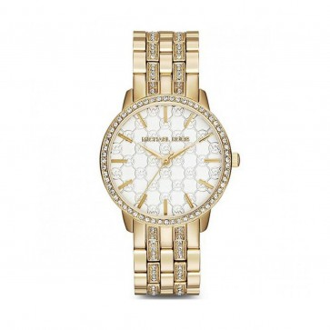 Michael Kors Nini Ladies Womens Watch Gold Plated Stainless Steel MK3214