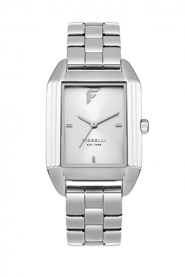 Fiorelli Womens Ladies Wrist Watch Silver Dial Square Face FO034SM