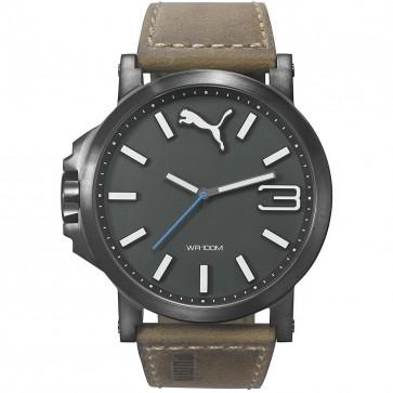 Puma Motorsport Ultrasize Mens Gents Quartz Brown Strap Wrist Watch PU103461017