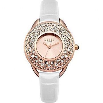 Lipsy Ladies Womens Wrist Watch White Strap Gold Dial LP445