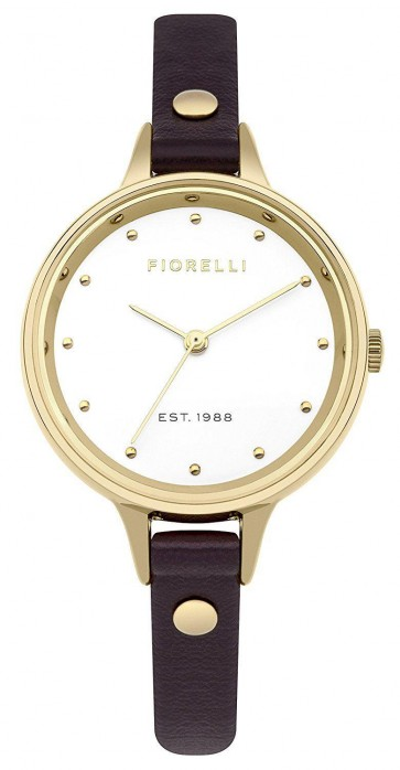 Fiorelli Ladies Womens Watch Brown Strap White Face FO042BE