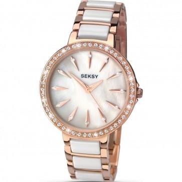 Sekonda Ladies Womens Wrist Watch White Bracelet Mother Of Pearl Face 2220