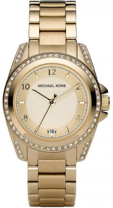 Michael Kors Ladies Watch Gold PVD Bracelet Gold Dial MK5334